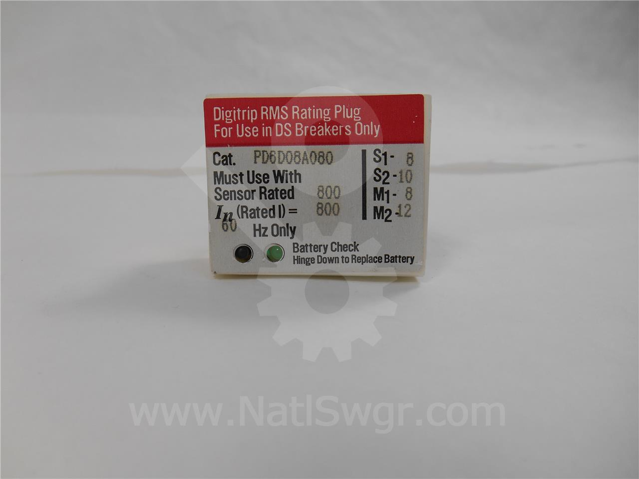 800A WH RATING PLUG 800A CT