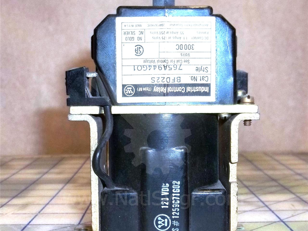 WH 125VDC BFD22S CONTROL RELAY