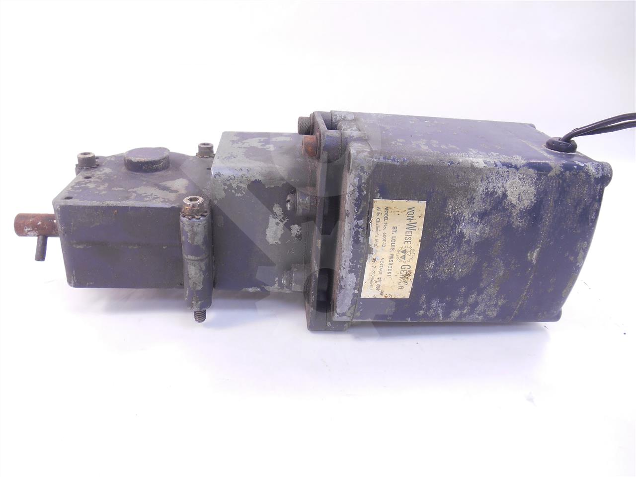 Siemens allis chalmers sa 125vac dc charge motor for Allis chalmers electric motor
