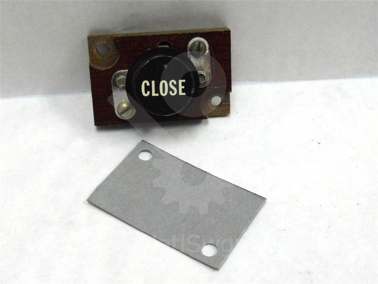 GE ELECTRICAL LOCAL CLOSE SWITCH/PUSH BUTTON