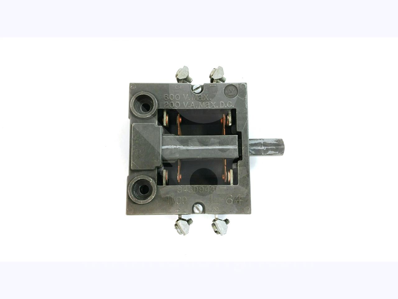 WH L-64 AUXILIARY INTERLOCK SWITCH 1NO/1NC