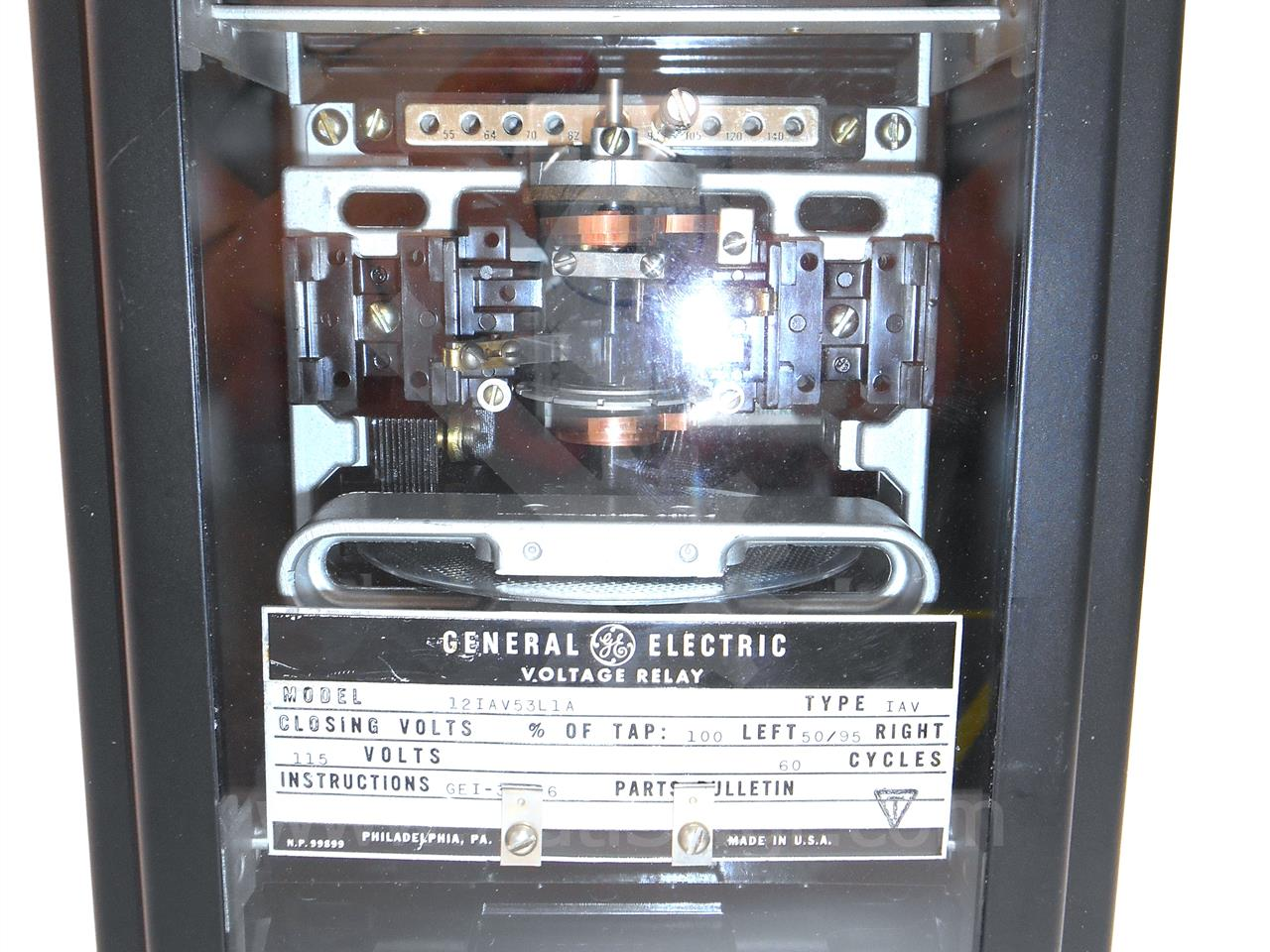 General Electric 12iav53l1a Ge Iav Single Phase Over  Under Voltage Relay