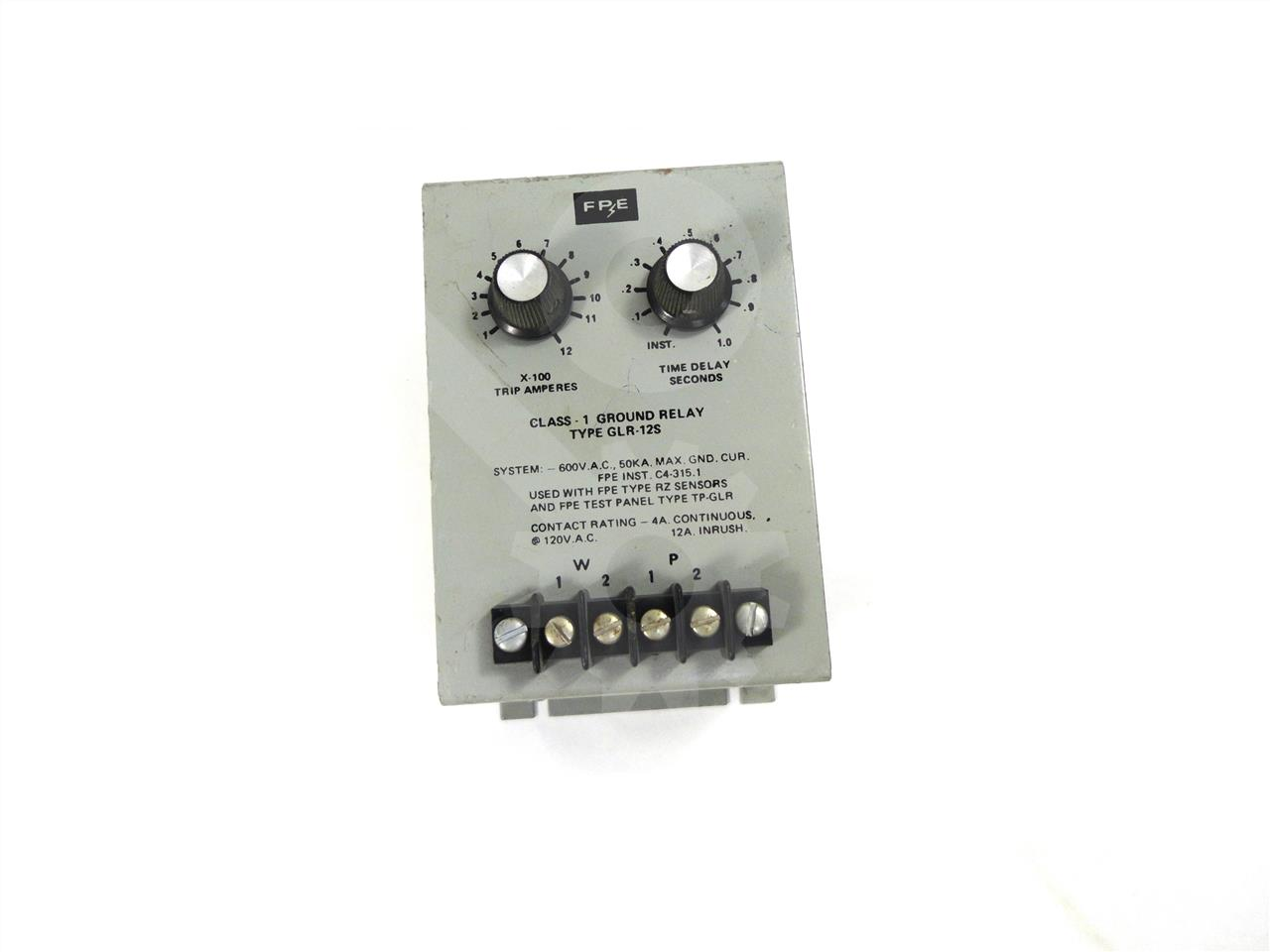 Parker Fpe Glr Ground Fault Relay Breaker Box With A Federal Pacific Circuit Panel Stablok