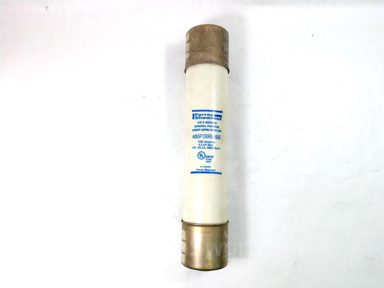 150E FERRAZ SHAWMUT POWER FUSE 5.5KV UNUSED SURPLUS